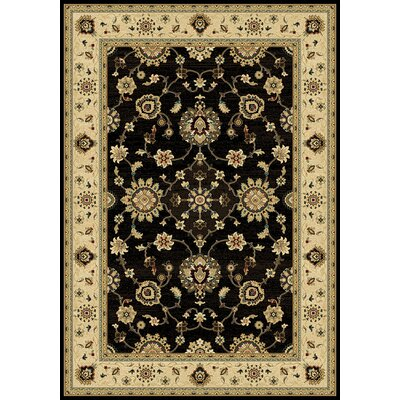 Dexter Black/Wheat Area Rug Rug Size: 53 x 77
