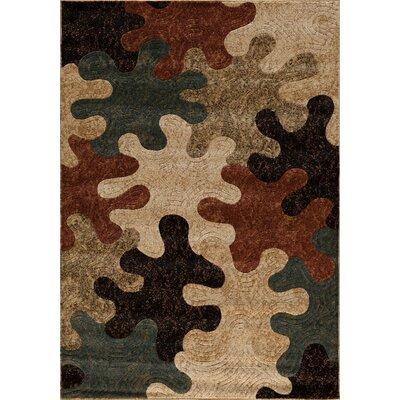 Clarkson Brown/Black Area Rug Rug Size: 5 x 76
