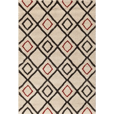 Sullivan Pearl/Red Area Rug Rug Size: 710 x 910