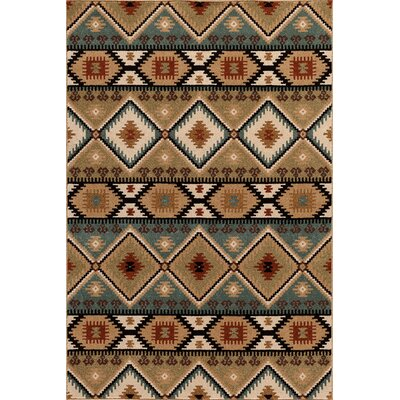 Hadfield Brown/Green Area Rug Rug Size: 710 x 910