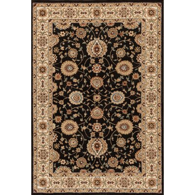Hadfield Black Area Rug Rug Size: 710 x 910