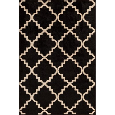 Darcy Onyx/Bone Indoor/Outdoor Area Rug Rug Size: 67 x 96
