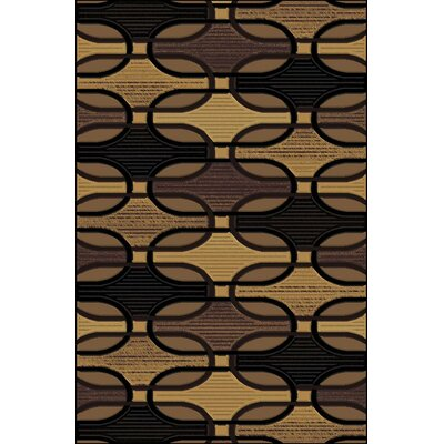 Clarkson Black/Gold Area Rug Rug Size: 5 x 76