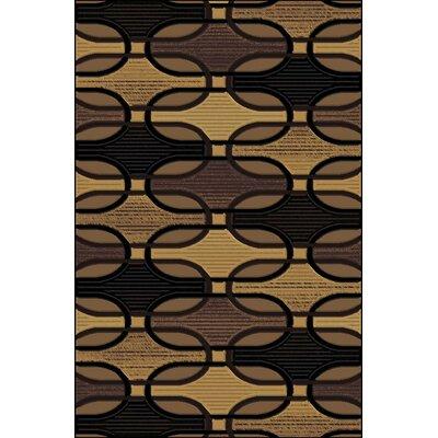 Clarkson Black/Gold Area Rug Rug Size: 710 x 910