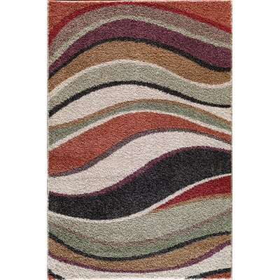 Hamilton Black/Red Area Rug Rug Size: 5 x 73