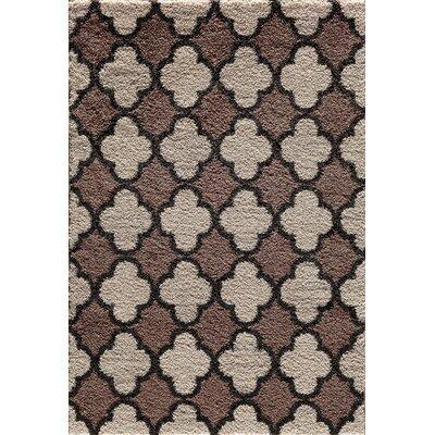 Hamilton Pearl/Cocoa Area Rug Rug Size: 710 x 910
