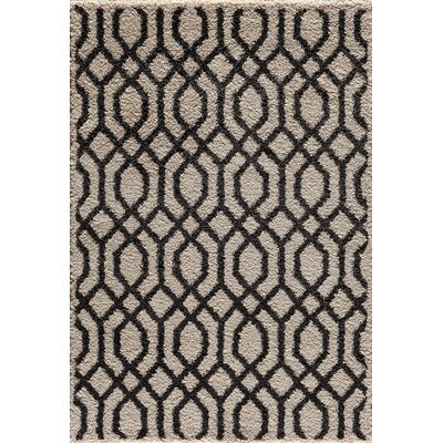 Hamilton Pearl/Black Area Rug Rug Size: 710 x 910