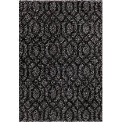 Hamilton Silver/Black Area Rug Rug Size: 5 x 73