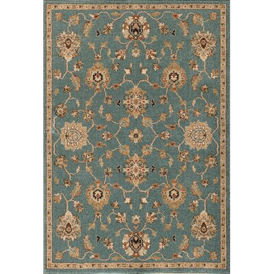 Hadfield Blue Area Rug Rug Size: 5 x 76