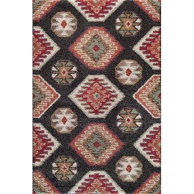 Hamilton Black/Red Area Rug Rug Size: 710 x 910