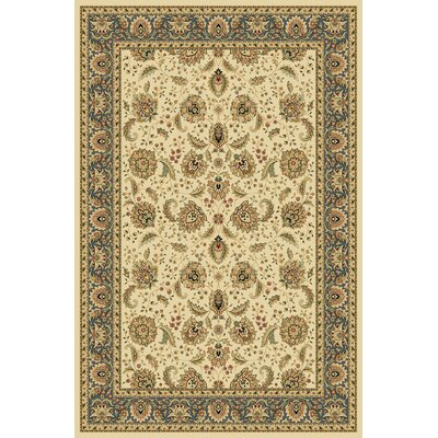 Dexter Wheat/Blue Area Rug Rug Size: 53 x 77