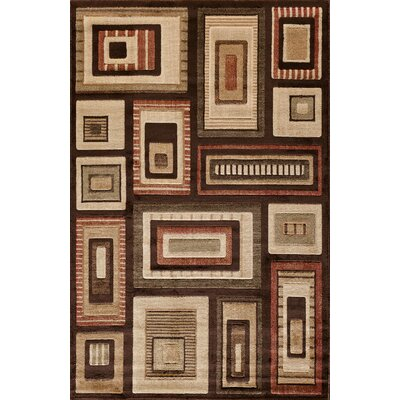 Clarkson Brown/Red Area Rug Rug Size: 5 x 76