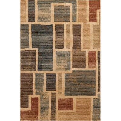 Clarkson Beige/Brown Area Rug Rug Size: 5 x 76