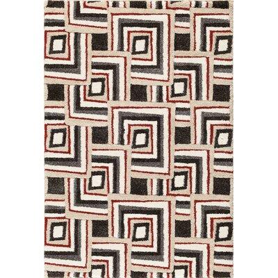 Sullivan Black/Red Area Rug Rug Size: 5 x 76