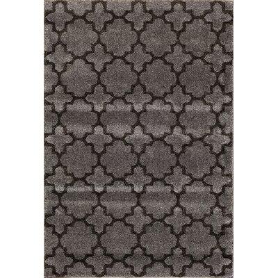 Sullivan Silver/Black Area Rug Rug Size: 710 x 910