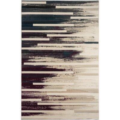 McGregor Black/Beige Area Rug Rug Size: 710 x 1010