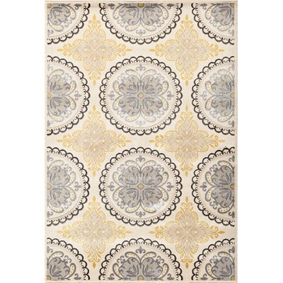 Suffolk Grey/Beige Area Rug Rug Size: 710 x 910