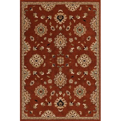 Hadfield Red Area Rug Rug Size: 7'10
