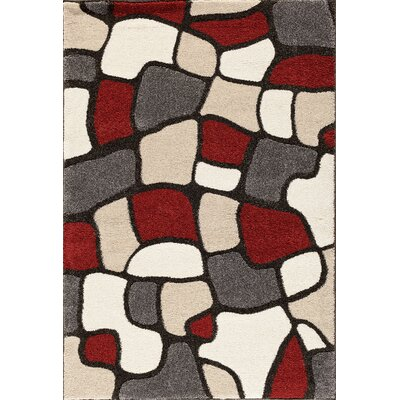Sullivan Black/Red Area Rug Rug Size: 710 x 910
