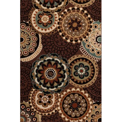 Hadfield Brown Area Rug Rug Size: 5' x 7'6