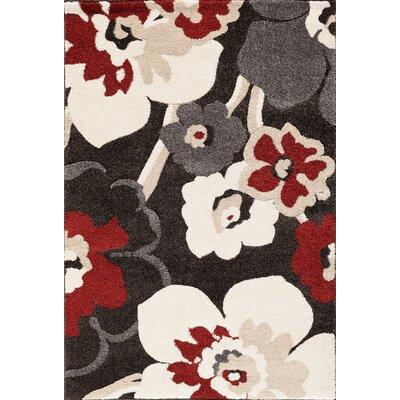 Sullivan Black/Red Area Rug Rug Size: 710 x 910