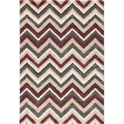 Delaney Beige/Red Area Rug Rug Size: 710 x 910