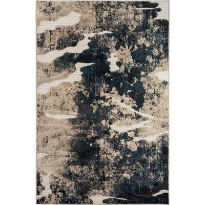 McGregor Black/Cream Area Rug Rug Size: 710 x 1010
