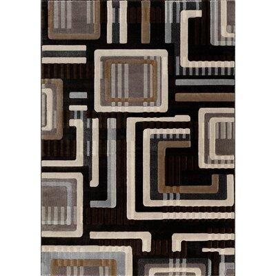 Portland Charcoal/Bone Area Rug Rug Size: 710 x 910