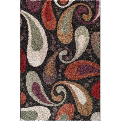 Hamilton Red/Black Area Rug Rug Size: 5 x 73