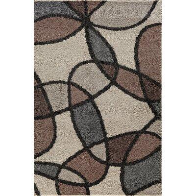 Hamilton Brown/Ivory Area Rug Rug Size: 5 x 73