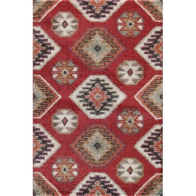 Hamilton Red Area Rug Rug Size: 710 x 910