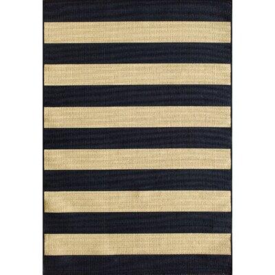Lindsay Navy Indoor/Outdoor Area Rug Rug Size: 5 x 73