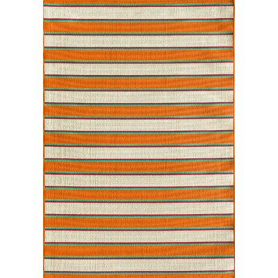 Lindsay Orange Indoor/Outdoor Area Rug Rug Size: 5 x 73