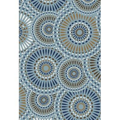 Lindsay Blue Indoor/Outdoor Area Rug Rug Size: 5 x 73