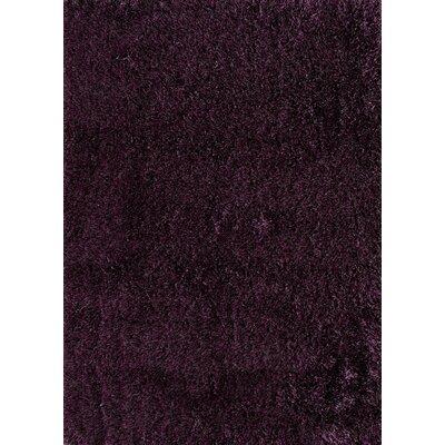 Cedric Hand-Woven Plum Area Rug Rug Size: 66 x 96