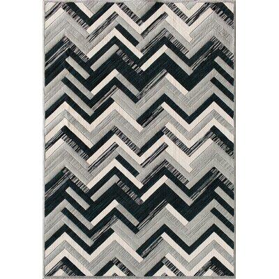 Jackson Slate/Black Area Rug Rug Size: 53 x 77