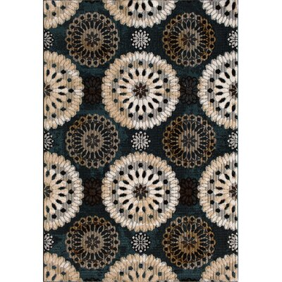 Jackson Blue/Slate Area Rug Rug Size: 53 x 77