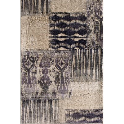 Norton Beige/Black Area Rug Rug Size: 5 x 76
