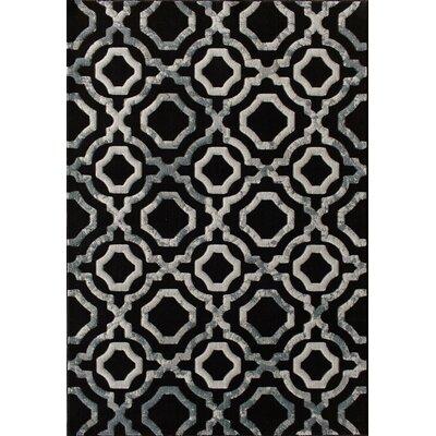 Jackson Black Area Rug Rug Size: 53 x 77
