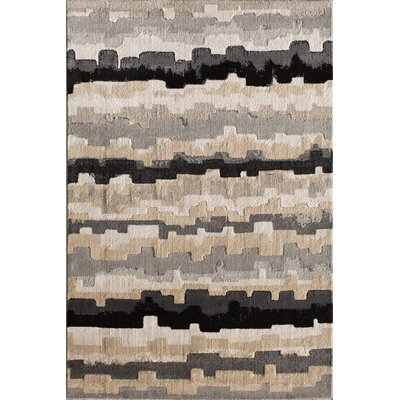 Norton Ebony Area Rug Rug Size: 710 x 910