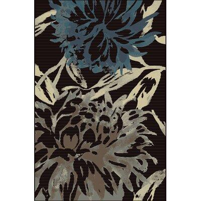 Suffolk Charcoal/Teal Area Rug Rug Size: 710 x 910