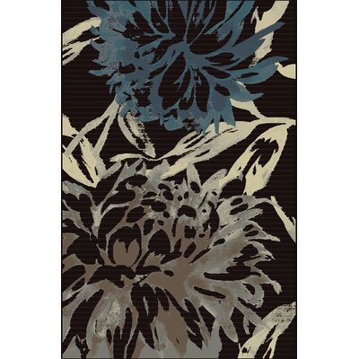Suffolk Charcoal/Teal Area Rug Rug Size: 5 x 76