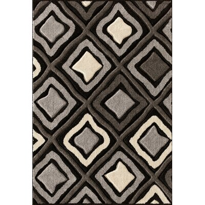 Alford Hand-Woven Black Area Rug Rug Size: 5 x 73