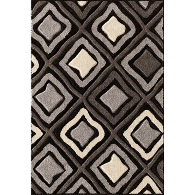 Alford Hand-Woven Black Area Rug Rug Size: 710 x 910
