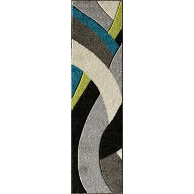 Alford Lime/Grey Area Rug Rug Size: Runner 2 x 77