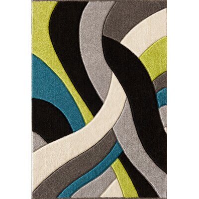 Alford Lime/Grey Area Rug Rug Size: 710 x 910