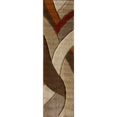 Alford Brown/Red Area Rug Rug Size: Runner 2 x 77