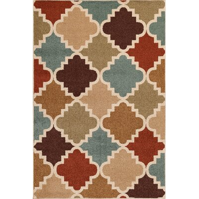Alford Brown/Red Area Rug Rug Size: 5 x 73