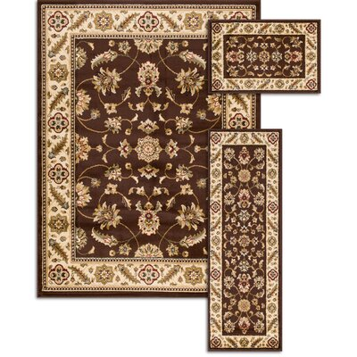 Penfield Brown 3 Piece Area Rug Set