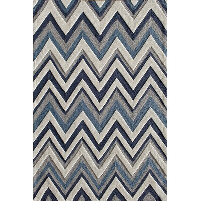 Hartford Hand-Tufted Blue Area Rug Rug Size: 5 x 7